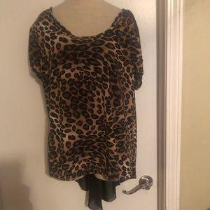 Tops - Plus Size Leopard Hilo Shirt